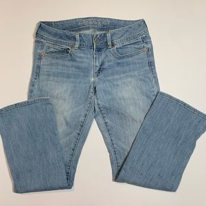 American Eagle jeans kick boot size 8 short